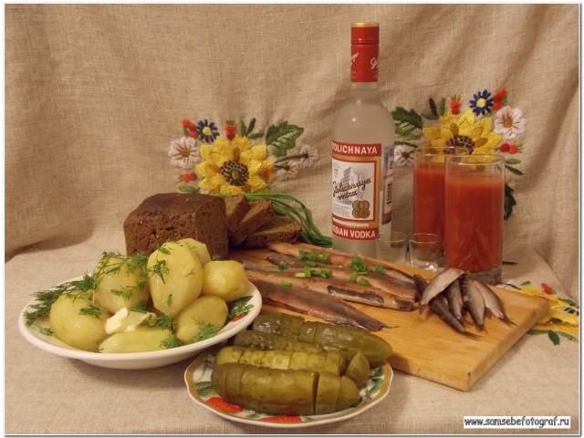 О русской водке, закуске и иностранцах