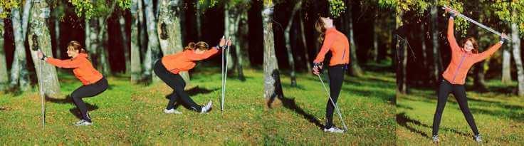 Правильная техника скандинавской ходьбы задействует до 90% мышц тела