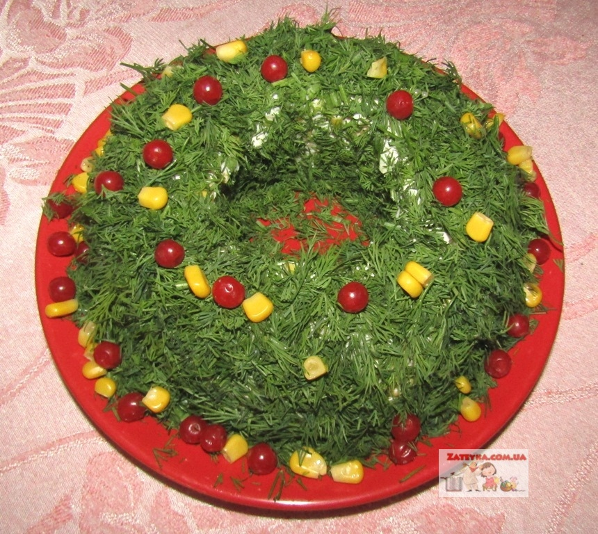 Салат «Рождественский венок»…
