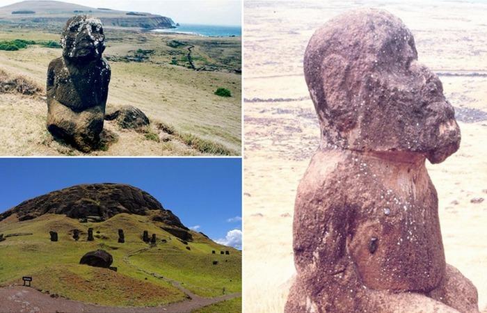 Тайны острова Пасхи: сидящий моаи Тукутури