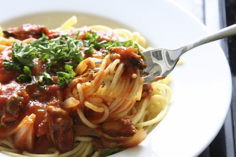 Спагетти Блюда итальянской кухни блюда Италии