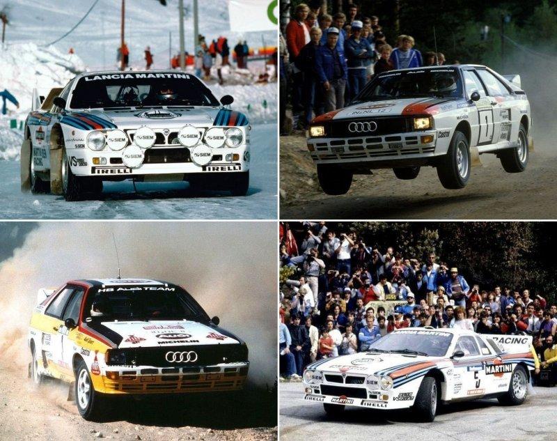 Audi Quattro и Lancia Rallye 037: битва философий