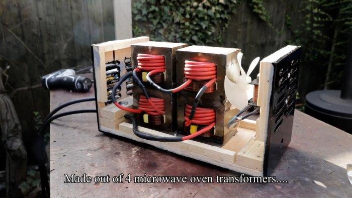 Сварочный аппарат на 200 А из микроволновок
