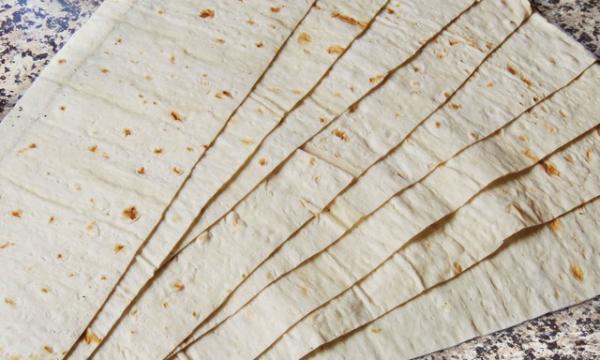 конвертики из лаваша с начинкой