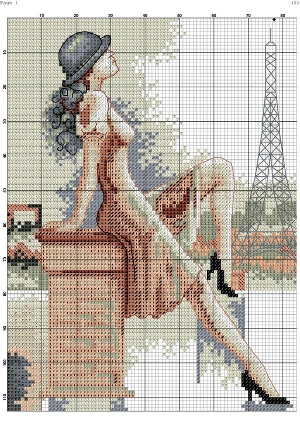 Схемы для вышивки крестом-париж