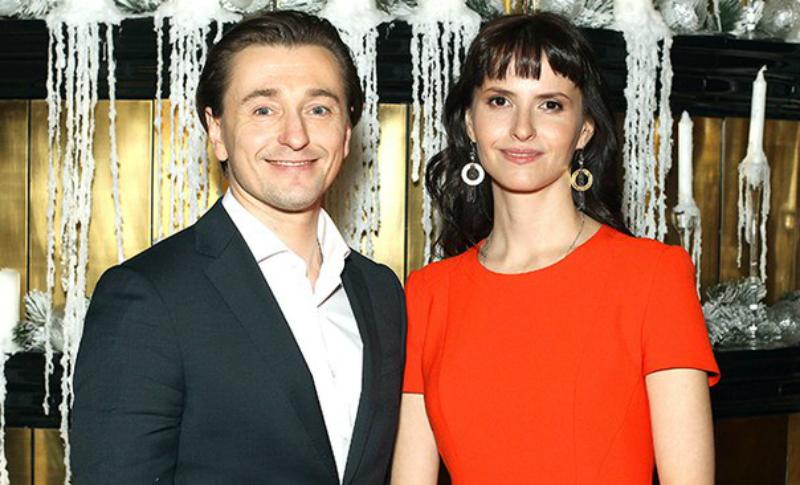 Сергей Безруков с женой