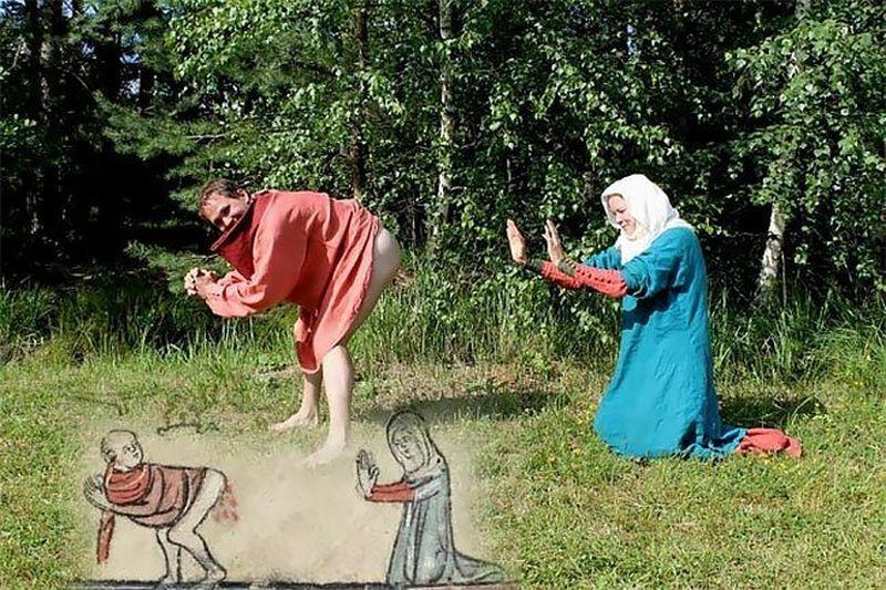 Странные и смешные реконструкции средневековых рисунков