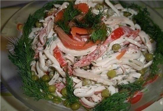 Обалденный салат с кальмарам…