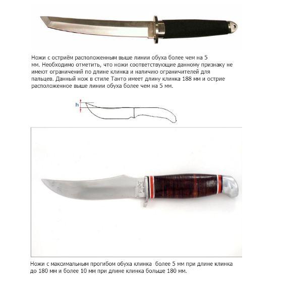 Ножи, которые не являются холодным оружием