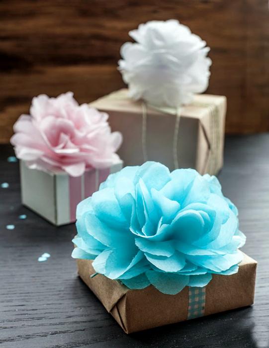Как сделать цветы из папиросной бумаги