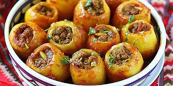 Фаршированный картофель мясом рецепт