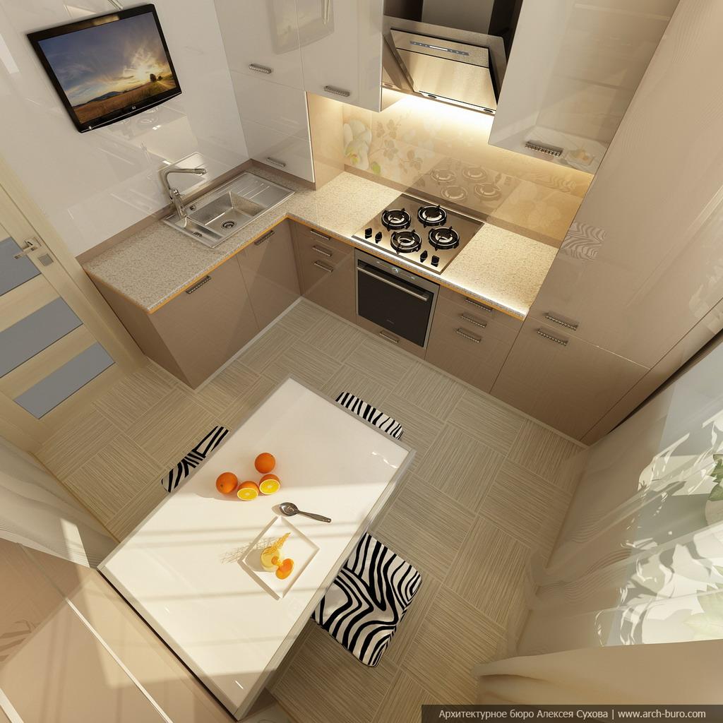 Дизайн в двухкомнатной малогабаритной квартире