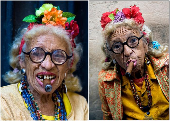 Курящая Грасиэла - самая эпатажная женщина Кубы