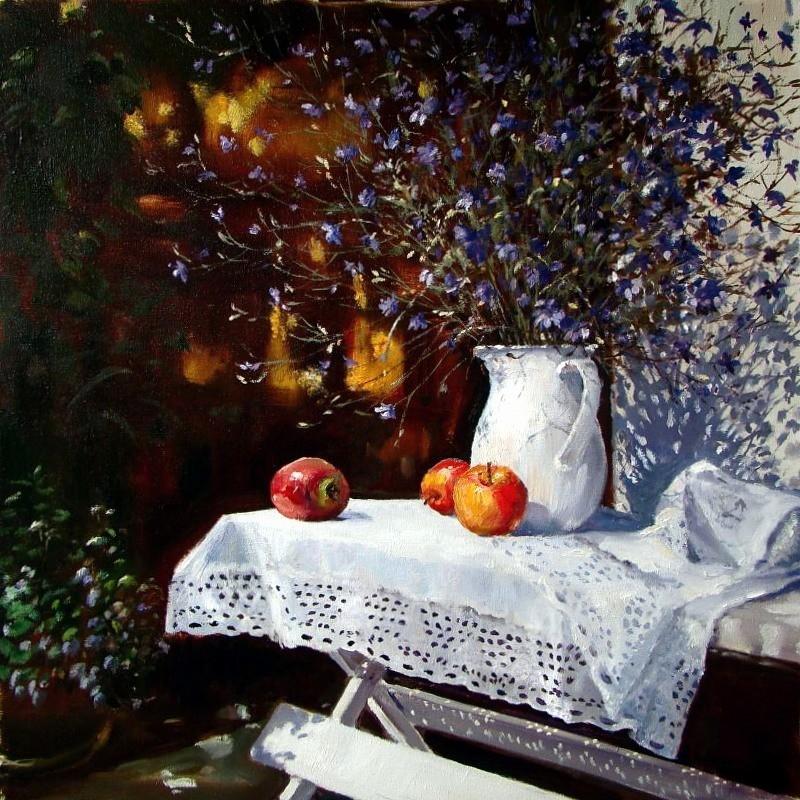 Тёплая, трогательная, романтичная, музыкальная... Живопись Елены Юшиной
