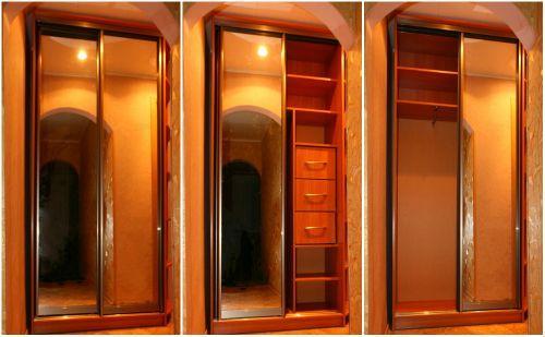 Встроенный шкаф купе своими руками: расчет конструкции, заготовка, монтаж