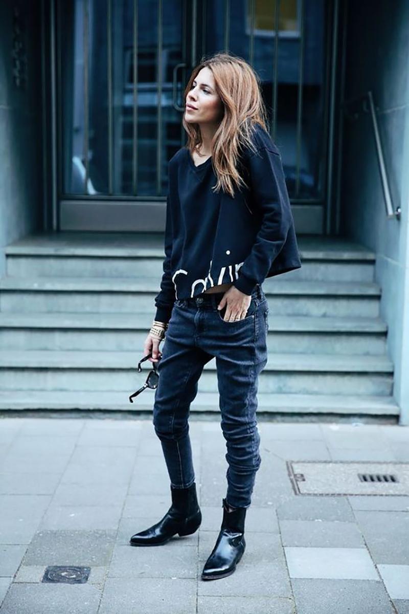 брюки-багги из денимак