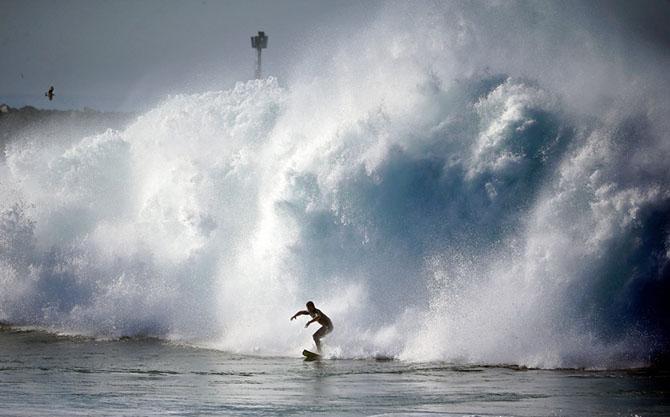Огромные волны Калифорнии