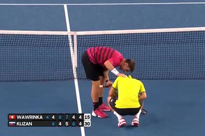 Швейцарец Вавринка попал сопернику мячом в пах на Australian Open