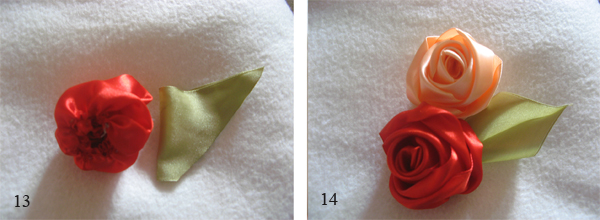 Объемная роза из ленты мастер-класс