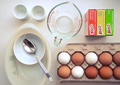 яйца, разноцветного желе