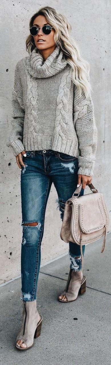 Модный свитер 2018: как и с чем носить водолазку