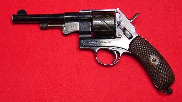 Револьвер Маузера модель 1878 года Зиг-Заг с цельной рамкой