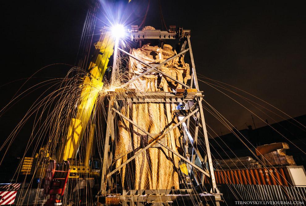 Как ставили памятник князю Владимиру