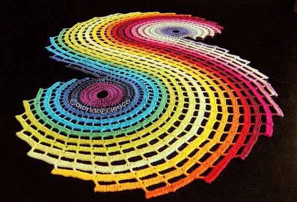 Вязаные ковры необыкновенной красоты