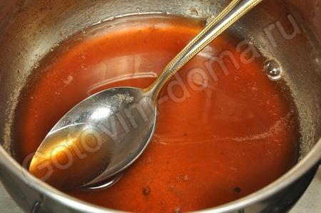 Баранья корейка под гранатовым соусом