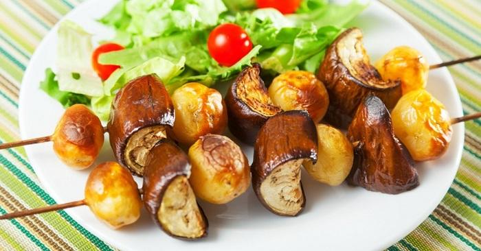 картофель с баклажанами