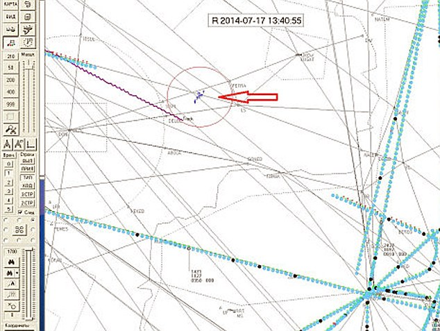 Российские СМИ показали присутствие военных самолетов вблизи крушения MH17
