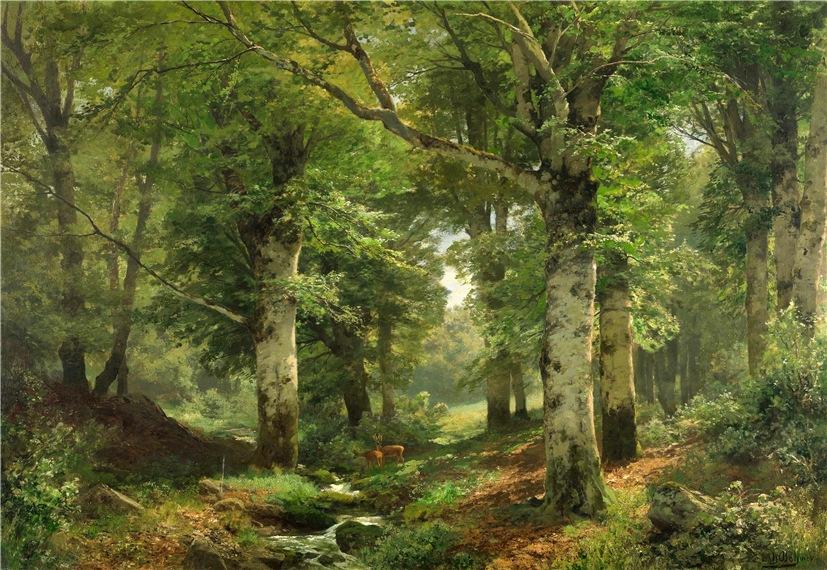 В лесу… Художник Heinrich Bohmer
