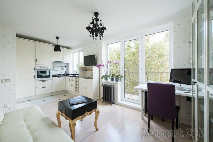 Дизайн квартиры 31 кв. м. с отдельной спальней