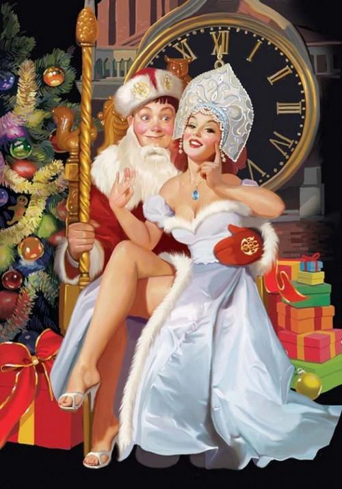 : Веселый новый год  от художника Татьяны Дорониной