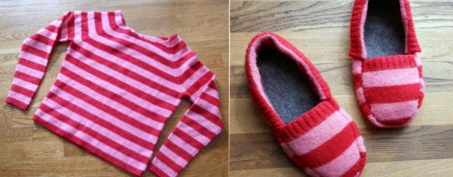 赋予旧毛衣一个新的生命 28:温暖的拖鞋 (大师班) - maomao - 我随心动
