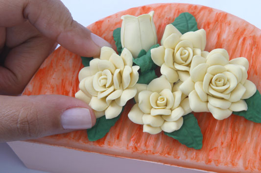 Цветы из теста своими руками фото