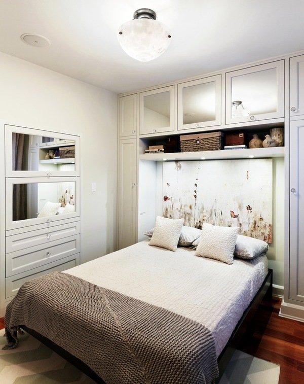 Идея дизайна маленькой спальни