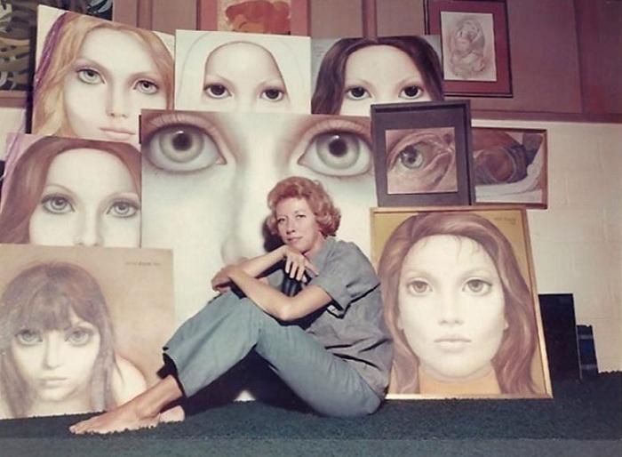 Большие глаза от художницы Маргарет Кин. ¦ Фото: vdohnovenie-online.ru.