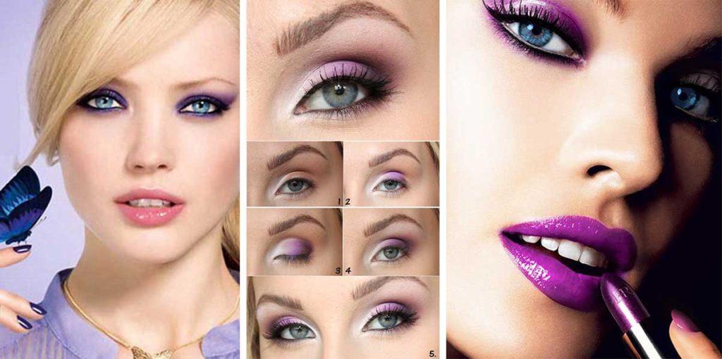 Поэтапный макияж для блондинок