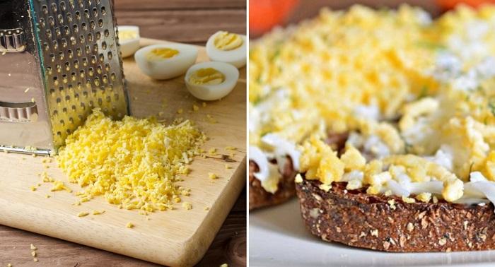 праздничные гренки с яйцом