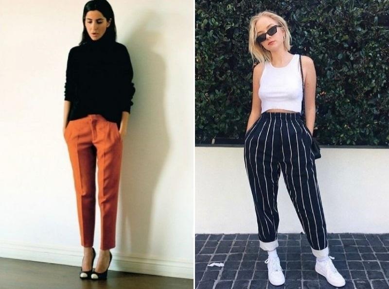 модные брюки с высокой талией