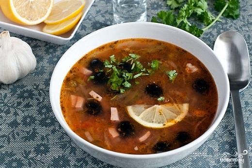 Рецепт суп солянки мясной сборной классический пошаговый рецепт с