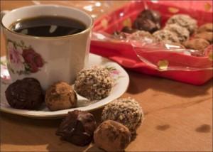 конфеты с орехами,рецепт конфет в домашних условиях