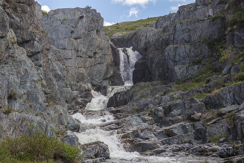 Безымянный водопад алтай, путешествия, россия, укок, фото