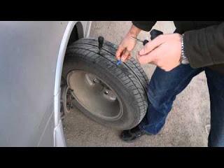 Ремонт прокола шины бескамерного колеса жгутом - СВОИМИ СИЛАМИ
