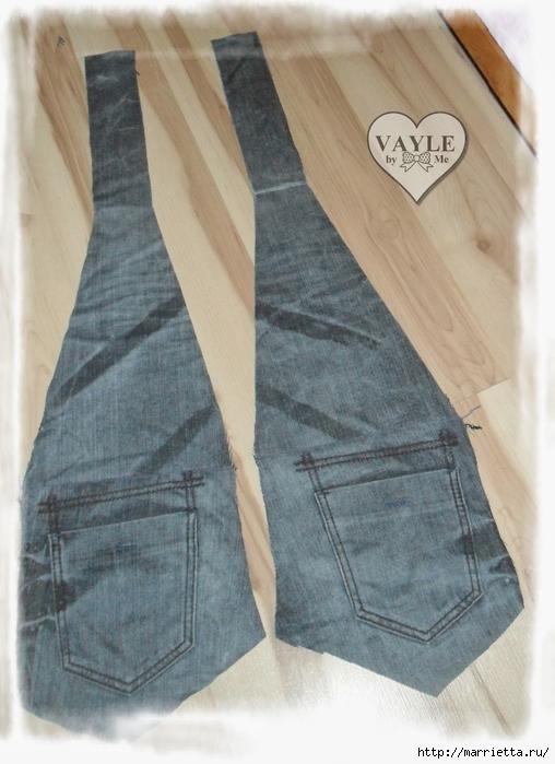 Как сшить жилет из старых джинсов (18) (508x700, 242Kb)