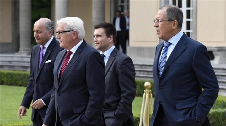 В Берлине начались четырёхсторонние переговоры глав МИД РФ, Украины, Франции, Германии