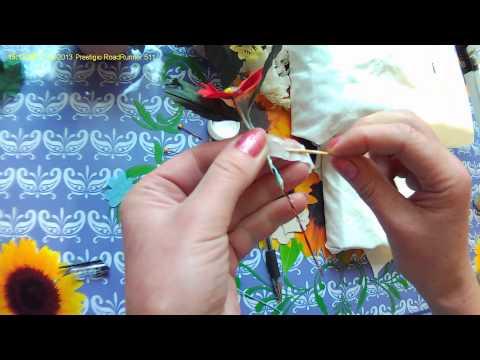 Цветы из ткани (анютины глазки и фиалки ).