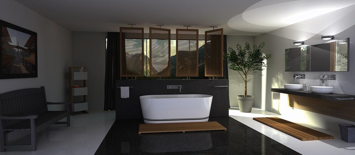 Стиль «дзен» для ванной комнаты