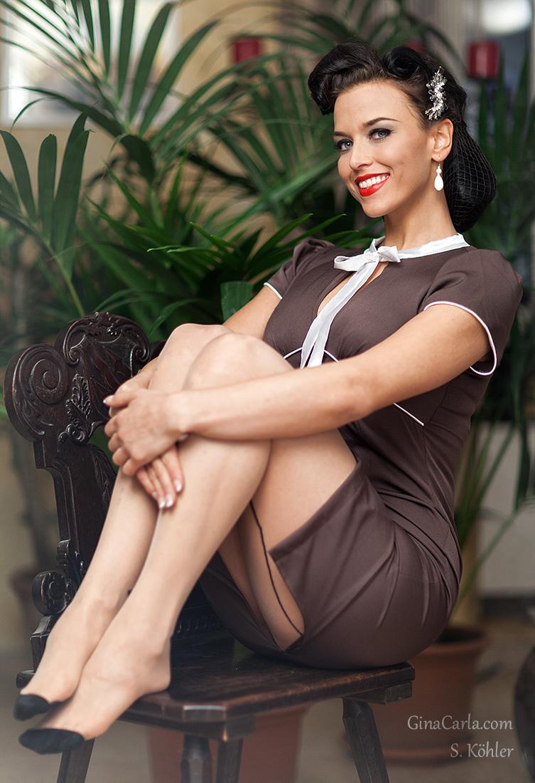 Джина Карла - потрясающая pin-up модель